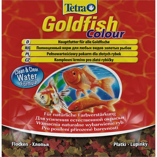 Корм для рыбок Tetra Goldfish Color Flakes (хлопья) 12г