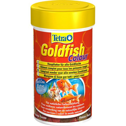 Корм для рыбок Tetra Goldfish Color Flakes (хлопья)